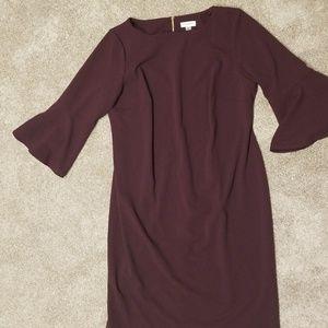 Purple Bell sleeve Dress